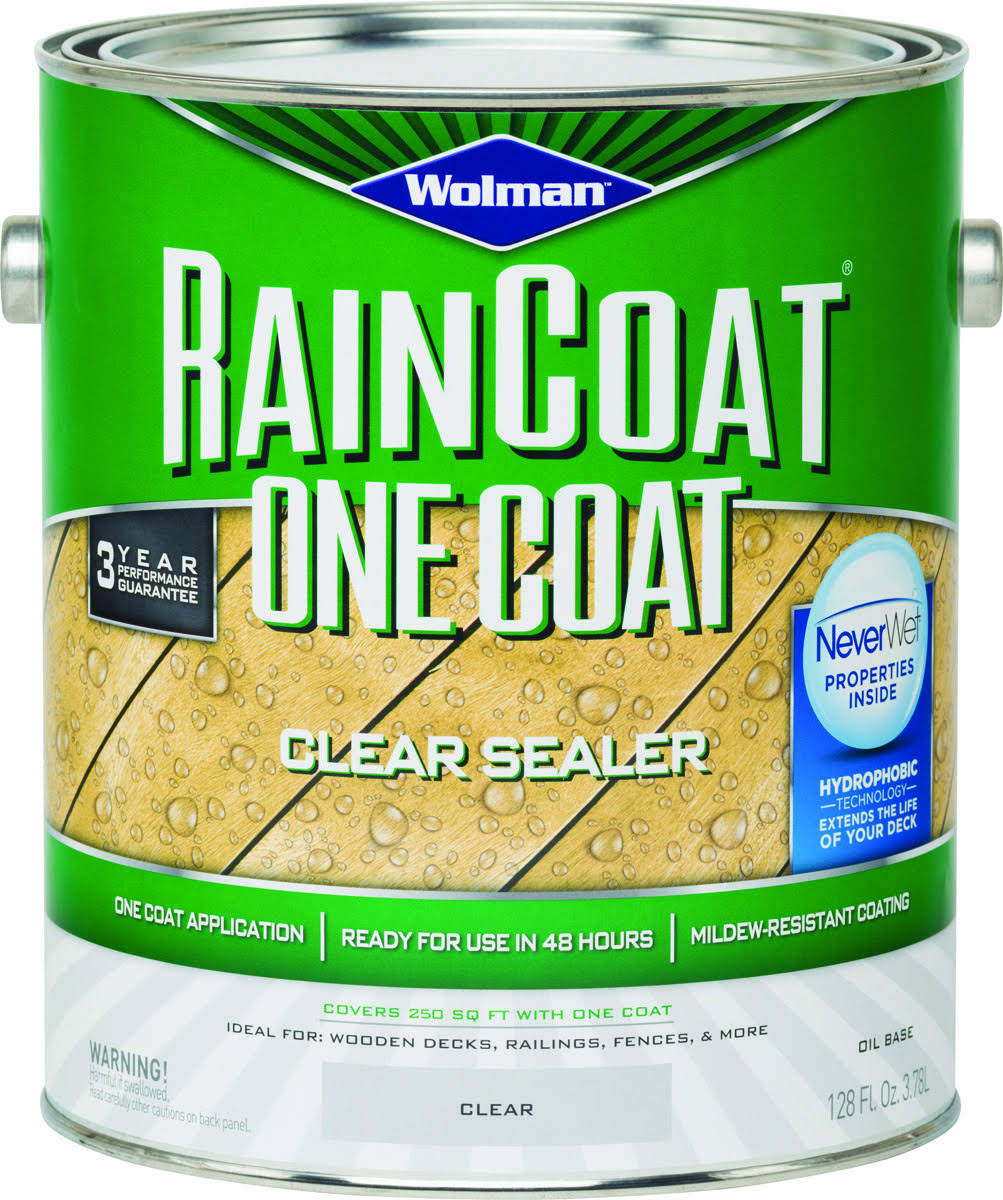 Rust-Oleum Raincoat Wood Preservative Deck Wood Sealer - with Clear Toner, 4 Gallon