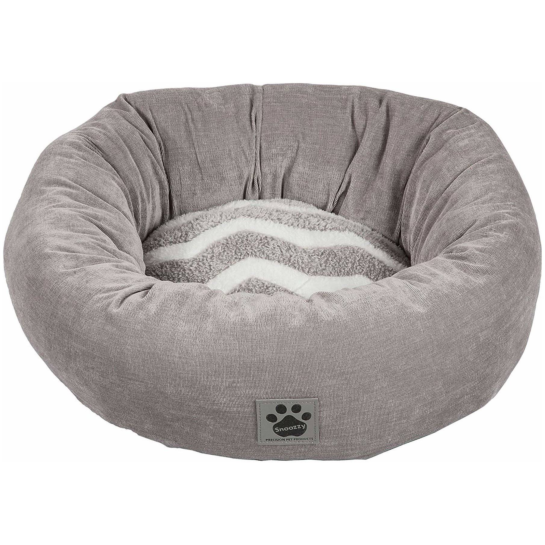 Precision Pet SnooZZy Donut Bed - White/Gray Cord, 17""