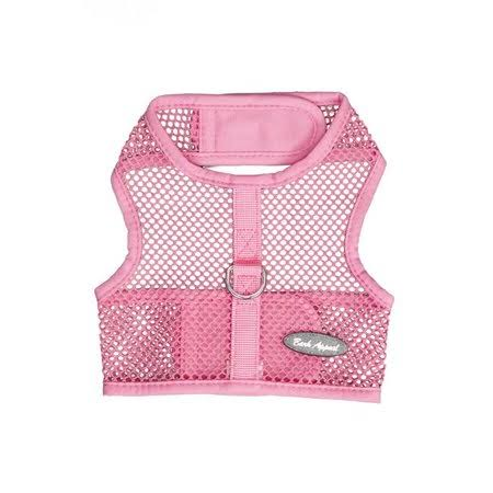Bark Appeal Wrap N Go Netted Dog Harness - Pink, Medium