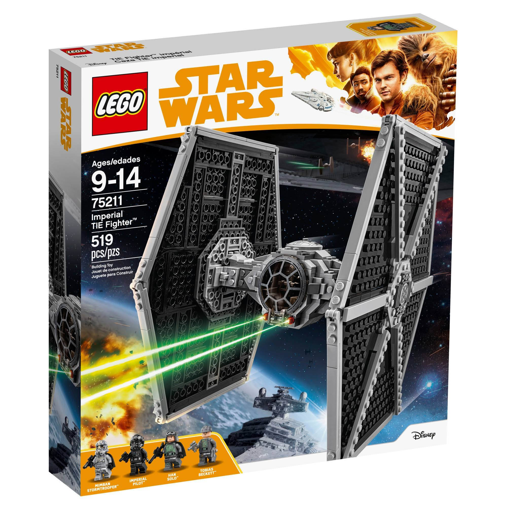 Lego Star Wars 75211 Building Block Puzzle Toy Kit - Imperial Tie Fighter, 519pcs