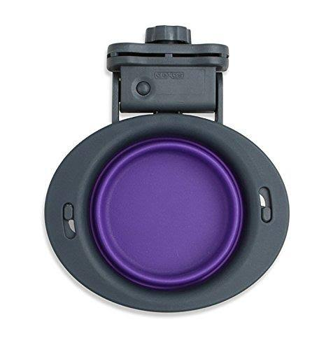 Dexas Popware Pets Collapsible Kennel Round Bowl - Purple, 8oz