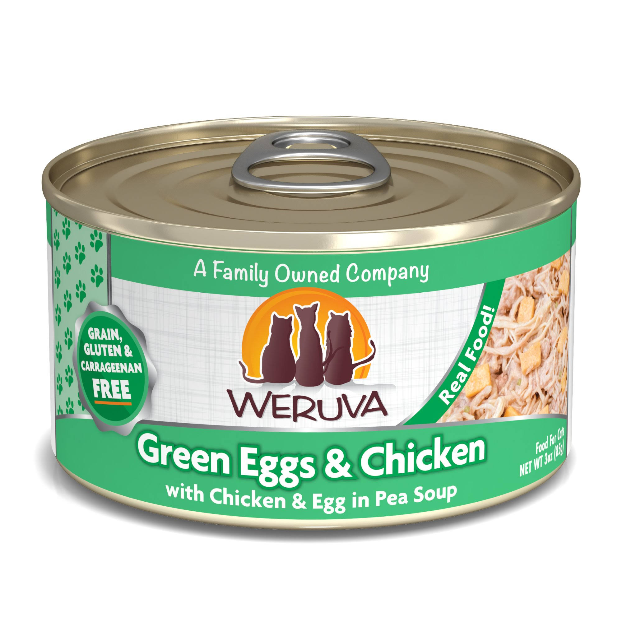 Weruva Canned Cat Food - Green Eggs and Chicken, 3oz