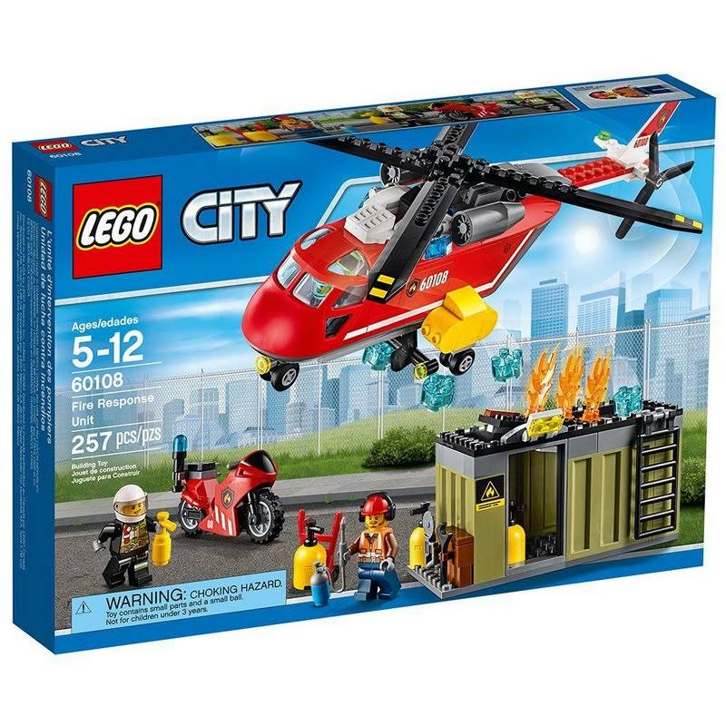 Lego City Fire Response Unit Building Toy
