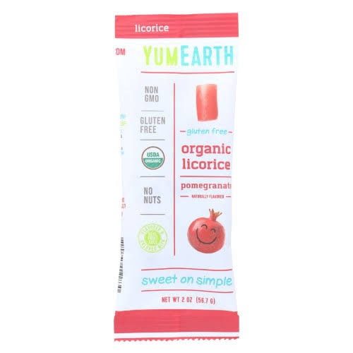 YumEarth Gluten Free Organic Licorice - Pomegranate, 2oz