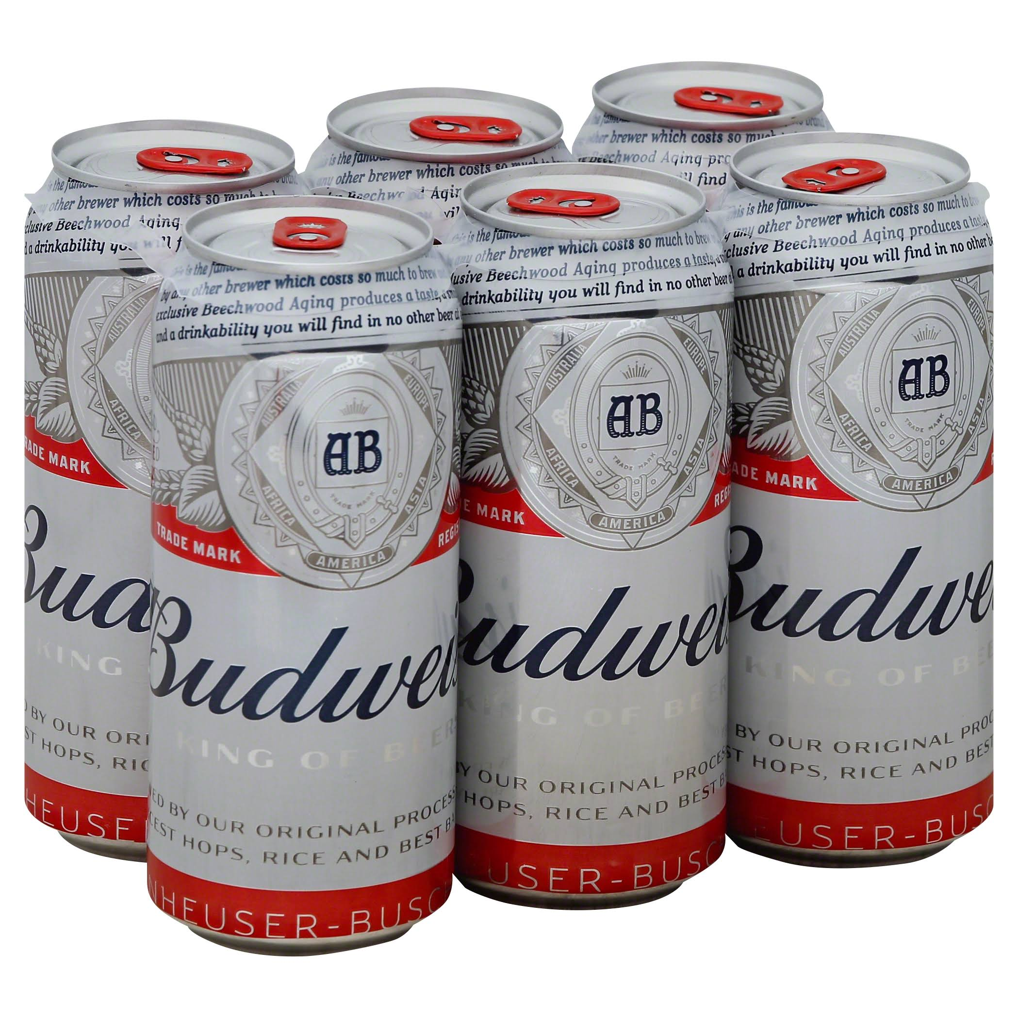 Budweiser Beer - 16 fl oz, 6 pack