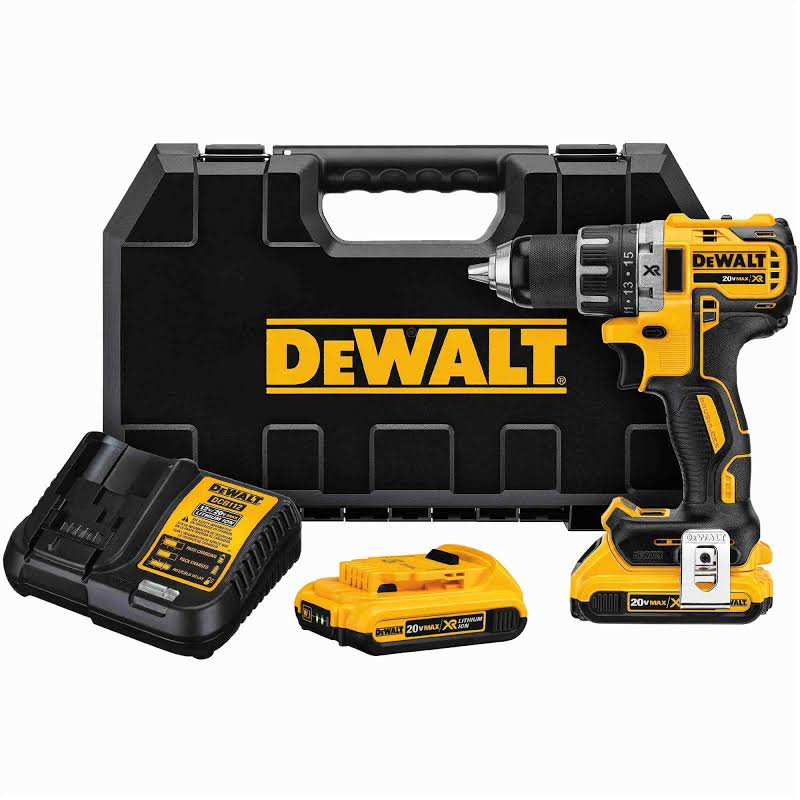 Drill Driver 1/2 Inch Compact Max XR Li-Ion 2 Speed Kit DCD791K1 DEWALT