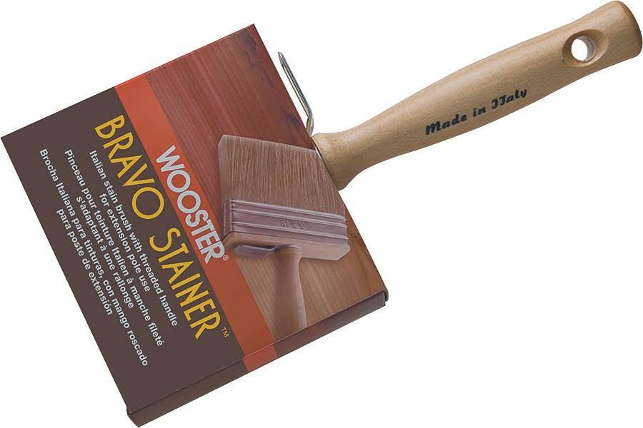 Wooster Bravo Stainer Stain Brush - 4 3/4""
