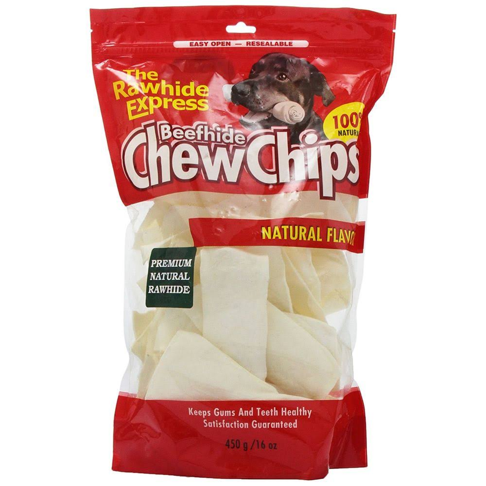 The Rawhide Express Beefhide Chew Chips - Natural Flavored, 16oz
