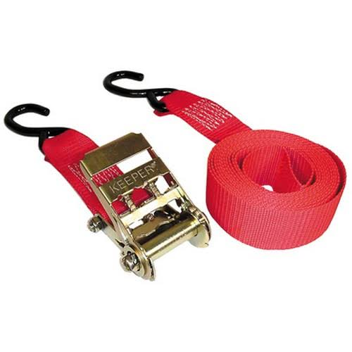 Keeper 89517 Ratchet Tie Down - Red, 4' x 2""
