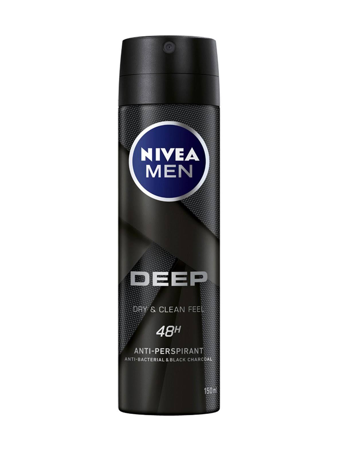 NIVEA Men Deep Anti-perspirant Deodorant Spray - 150ml