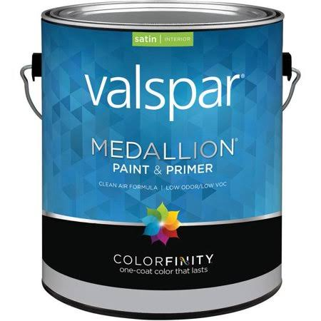 Valspar Medallion Interior Latex Paint - Satin Pastel Base, 1 Gallon