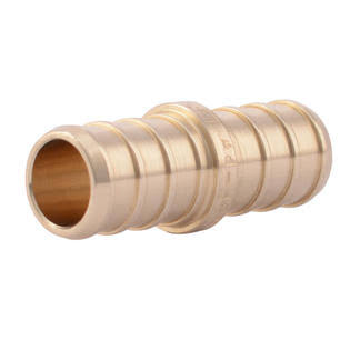 "Pex Barb Coupling Connection Fittings - 1/2"", Brass"