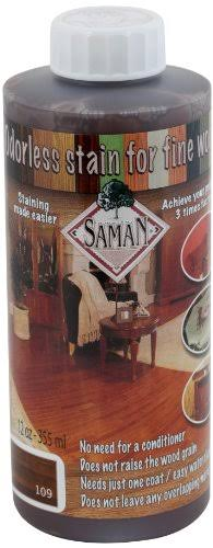 Saman Tew-109-12 Interior Water Based Stain for Fine Wood, Walnut, 12 Ounce