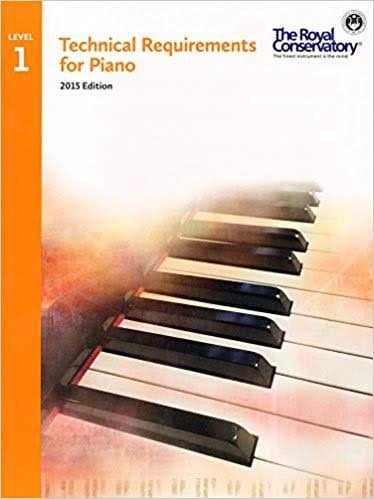 Technical Requirements for Piano Level 1 - Royal Conservatory