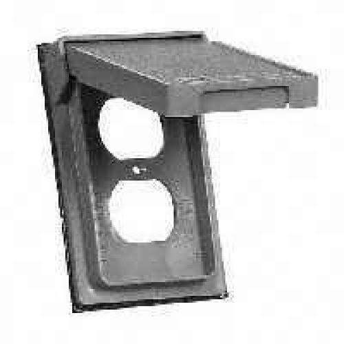 Cooper Wiring S2962 1 Gang Duplex Receptacle Cover Gray