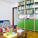 the modern living room is < Inspiring Small Homes - Sunset. - How Get Comfortable In Tiny Living Room