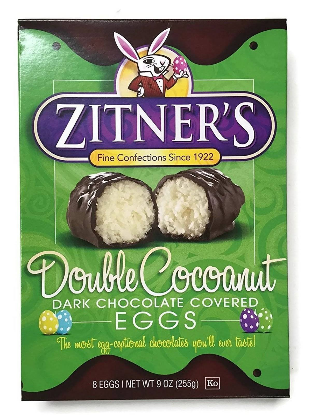 Zitner's Double Cocoanut Dark Chocolate Covered Eggs - 12ct