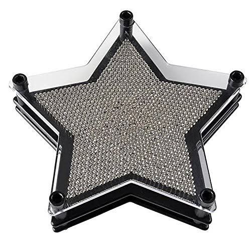 "Unique Star Shaped Pin Art Game for Kids & Adults~ 6"" Retro 3-Dimensional Pin Po"