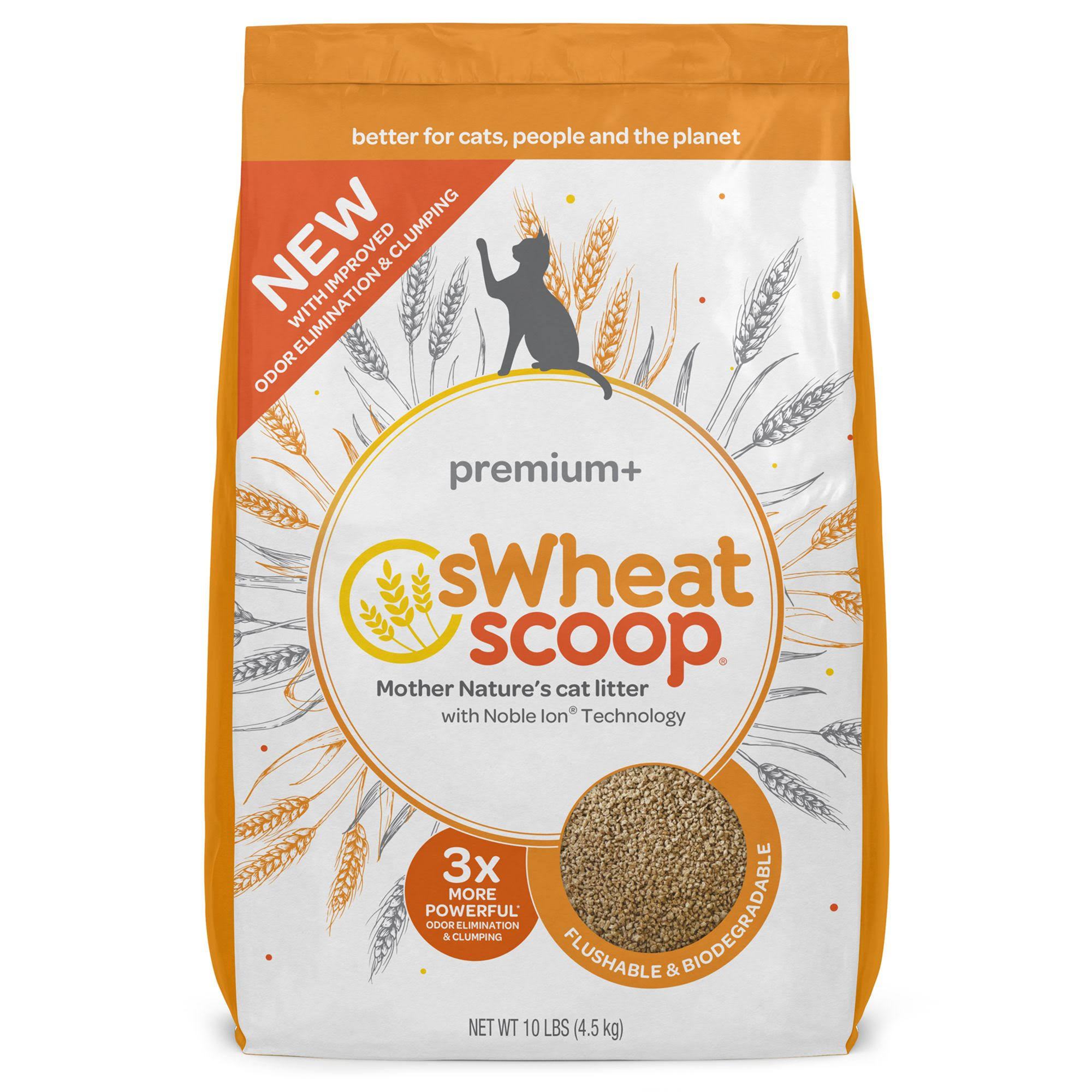 sWheat Scoop Premium+ Litter 10 lb