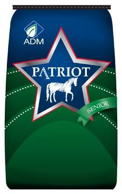 ADM 80029aaa24 Patriot Senior Complete Horse Feed - 50lbs