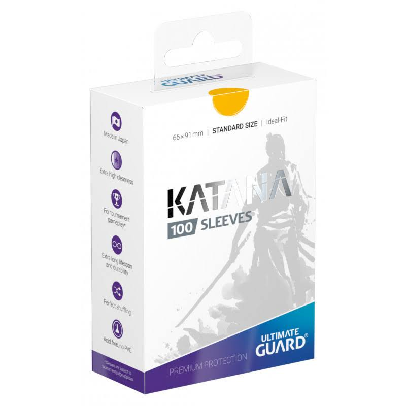 Ultimate Guard Katana Card Sleeves Pack - Yellow , 100pk