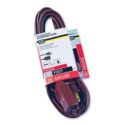 "Master Electrician 09404ME Cube Tap Extension Cord - 15"", Brown"