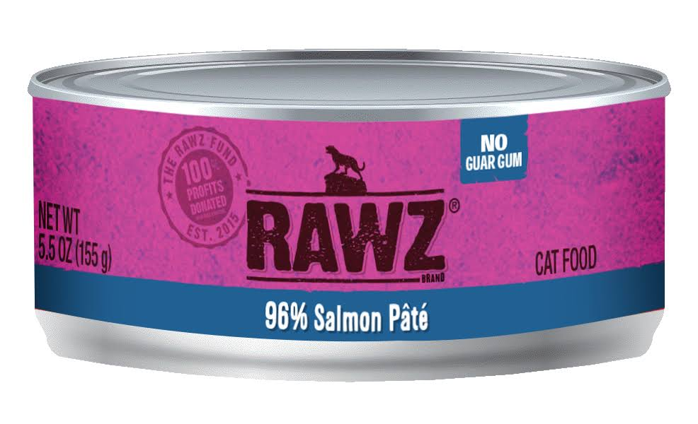 Rawz 96% Salmon Cat Food Can | Tomlinson's Feed 5.5 oz