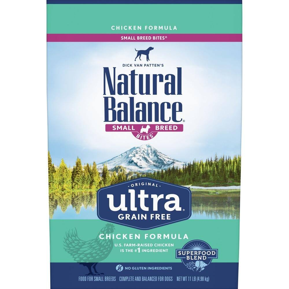 Natural Balance Original Ultra Grain Free Small Breed Bites Chicken Recipe Dry Dog Food 4-lb