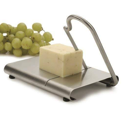 RSVP Cheese Slicer Cutter Planer and Serving Board - Stainles Steel