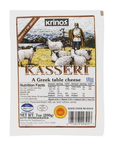 Krinos Cheese, Kasseri - 7 oz