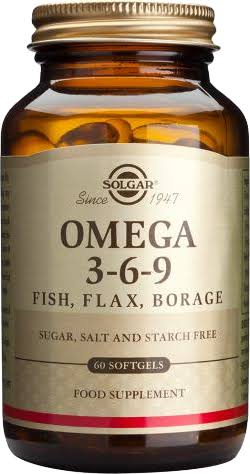 Solgar EFA 1300mg Omega 3-6-9 Dietary Supplement - 120 Softgels