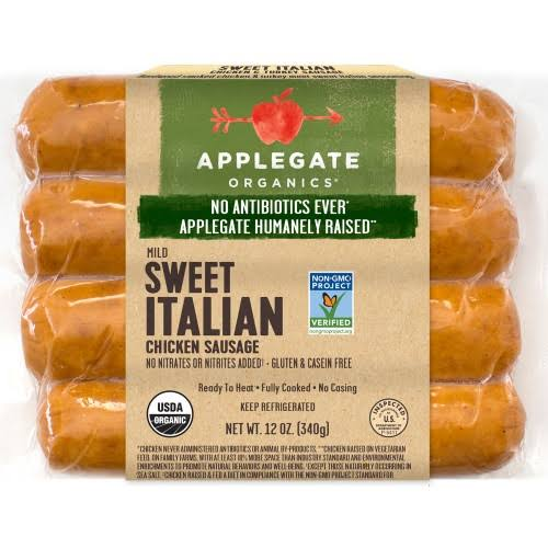 Applegate Farms Sweet Italian Chicken Sausage - 12 oz packet