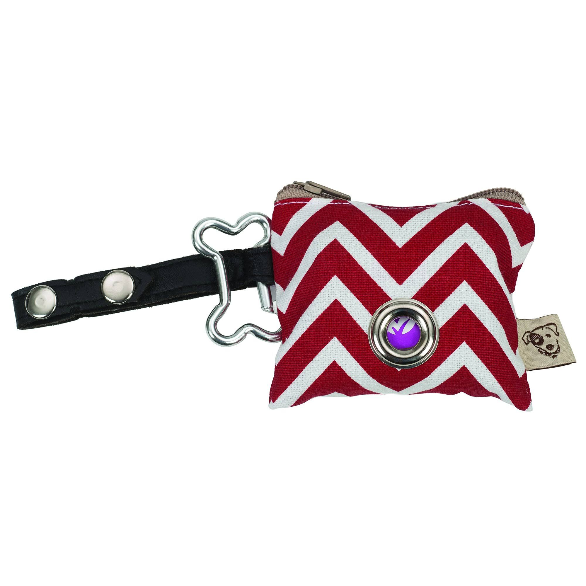 Jax & Bones Zig Zag Red P.U.P. Waste Bag Dispenser