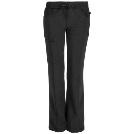 Cherokee Women's Infinity Low-rise Straight Leg Drawstring Pant - Black, Large