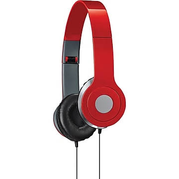 iLive IAH54R On-Ear Headphones - Red