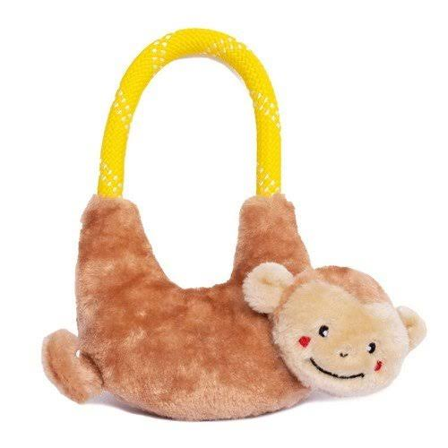 ZippyPaws Rope Hangerz Dog Toy - Monkey - One Size
