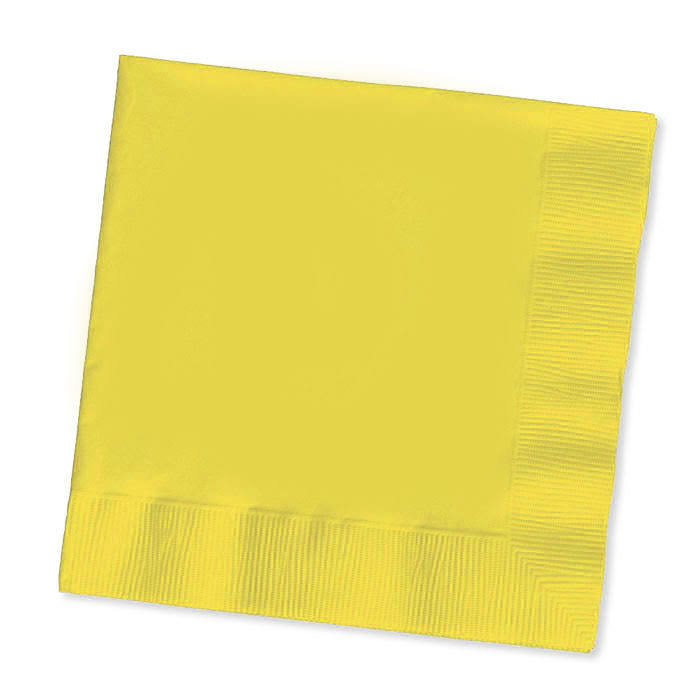 Touch of Color Lunch Napkins - 3 Ply, Mimosa, 50ct