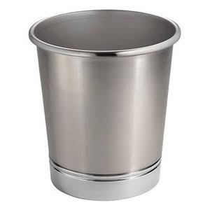 InterDesign York Metal Wastebasket Trash Can