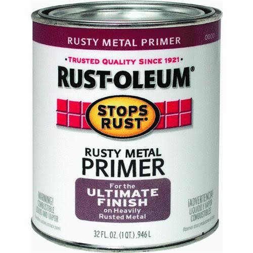 Rust-Oleum Stop Rust Rusty Metal Primer For The Ultimate Finish On Heavy Rusted Metal - 32 oz