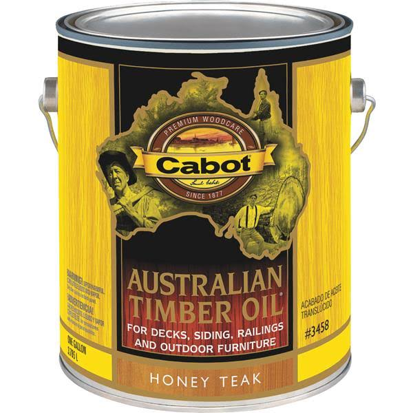 Cabot Stains 3458 Australian Timber Oil - Honey Teak, 1gal