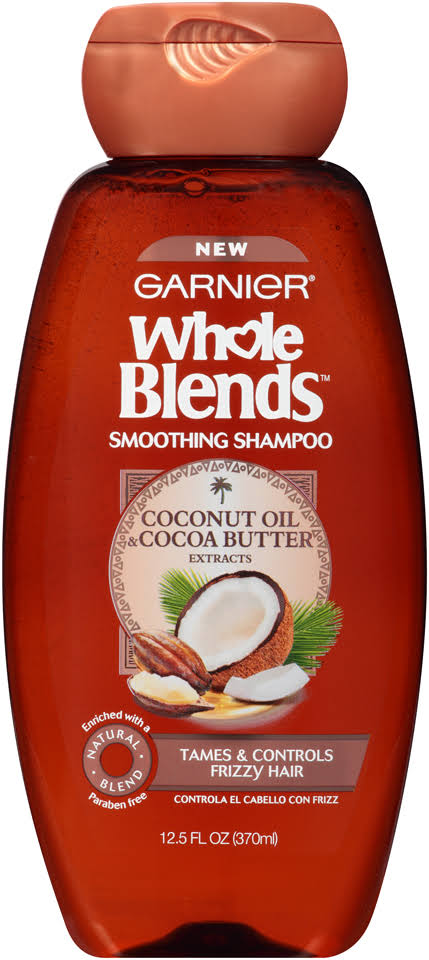 Garnier Whole Blends Smoothing Shampoo - Coconut Oil & Cocoa Butter, 370ml