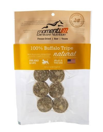 Momentum Dog Cat Freeze Treats - Dried Buffalo Tripe, 1oz