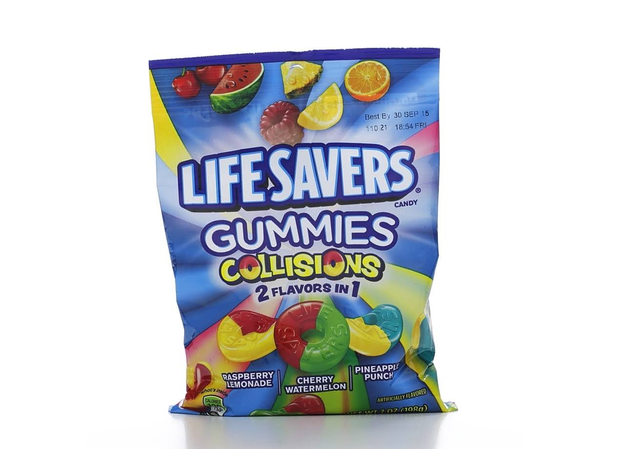Lifesavers Gummies Collisions Candy - 2 Flavors in 1 Candy, 7oz