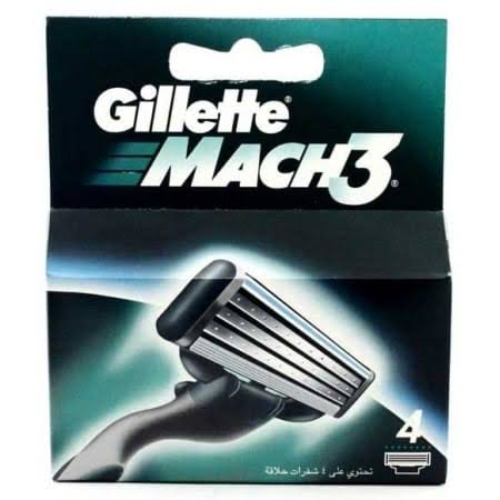Gillette Mach3 Razor Blade Cartridges - 4 Pack