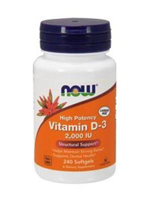 Now Foods Vitamin D-3 - 2000 IU, 240 Softgels