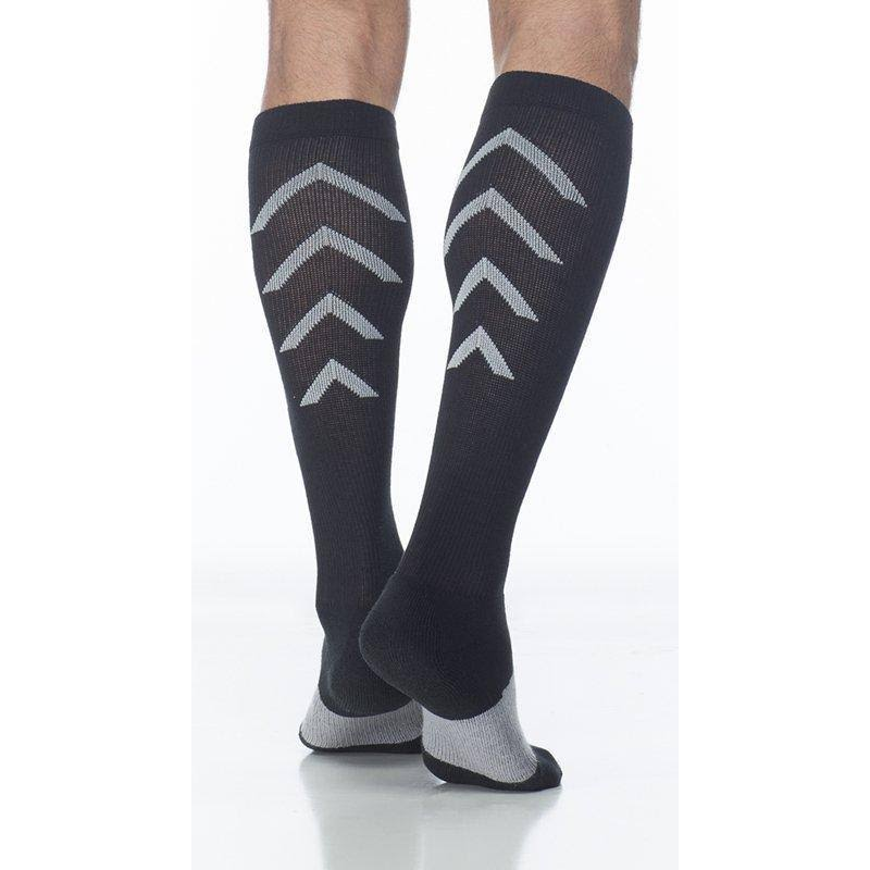 Sigvaris Athletic Recovery Knee High Socks - Unisex, Black, Large