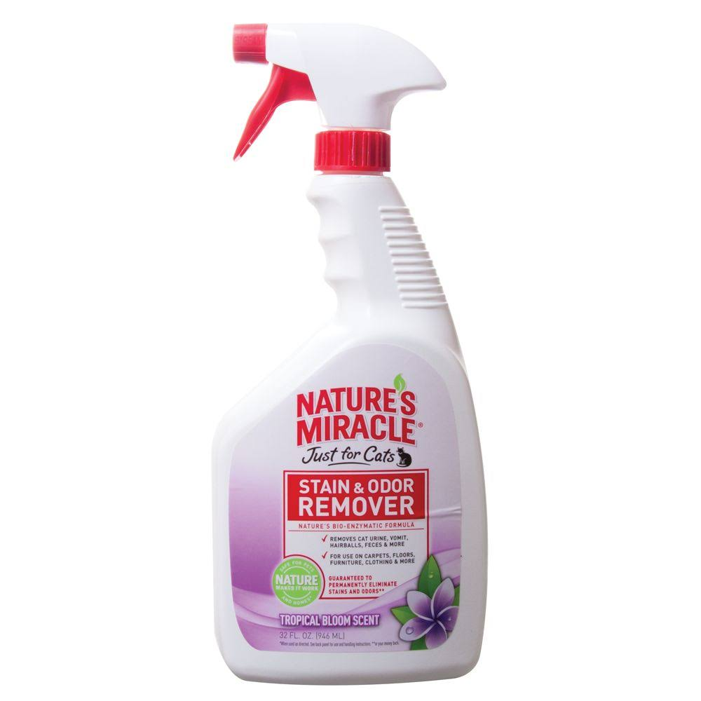 Nature's Miracle Just for Cats Stain & Odor Remover, Tropical Bloom Scent - 32 fl oz bottle