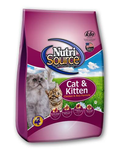Nutri Source Chicken and Rice Cat and Kitten Food - 16lb