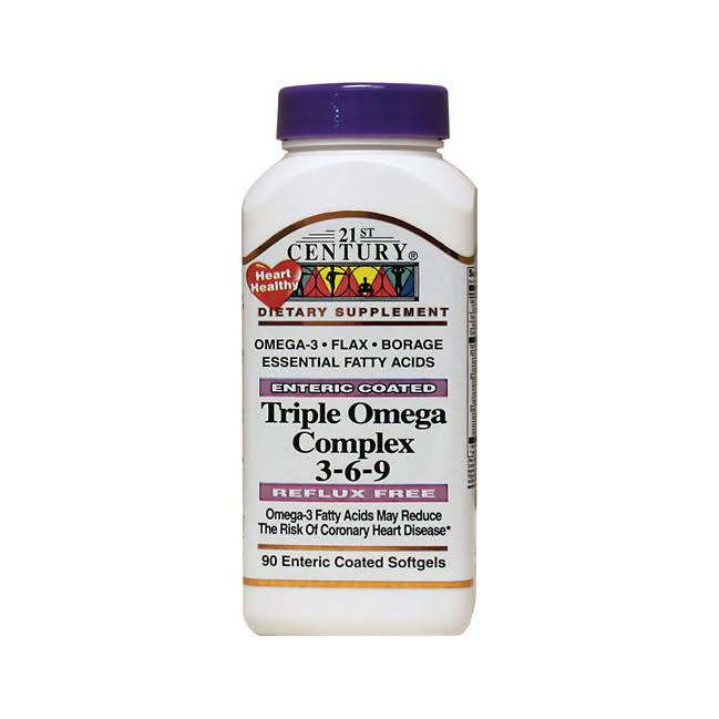21st Century Omega 3-6-9 Complex Supplement - 90 Softgels