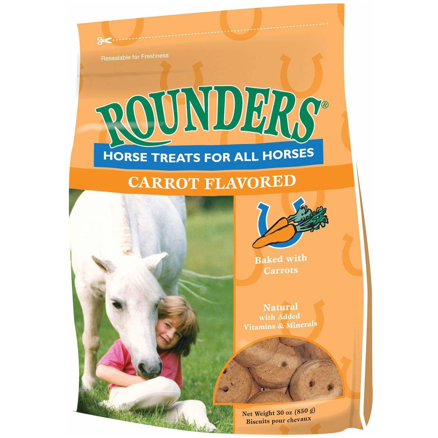 Kent Nutrition Carrot Rounder's Horse Treat - 30oz